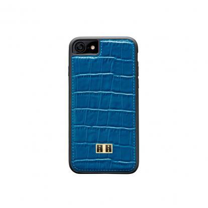 غطاء (كفر) جلد أزرق للايفون 7 / 8 (BCAP7-11114)
