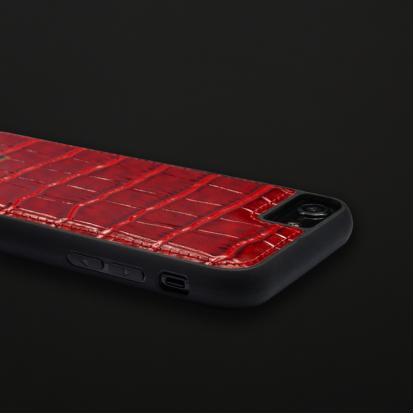 كفر أيفون 7 / 8 جلد أحمر 11112
