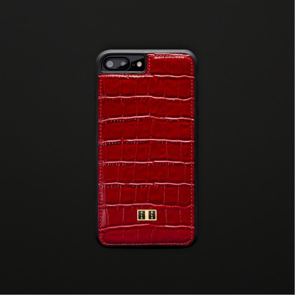 غطاء (كفر) جلد أحمر للايفون 7 / 8 بلس (BCAP7-11212)