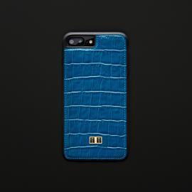 غطاء (كفر) جلد أزرق للايفون 7 / 8 بلس (BCAP7-11214)