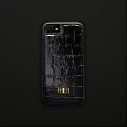 غطاء (كفر) جلد أسود للايفون 7 / 8 (BCAP7-11110)
