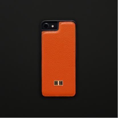 fd041f325b5be كفر ايفون 7   8 جلد برتقالي 11175