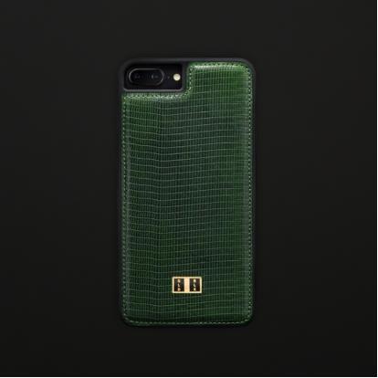 غطاء (كفر) جلد السحلية أخضر للايفون 7 / 8 بلس (BCAP7-11269)