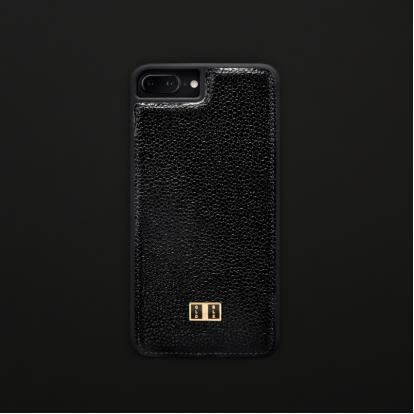 غطاء (كفر) جلد كافيار الأسود للايفون 7 / 8 بلس (BCAP7-11270)