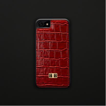 غطاء (كفر) جلد أحمر للايفون 7 / 8 (BCAP7-11112)