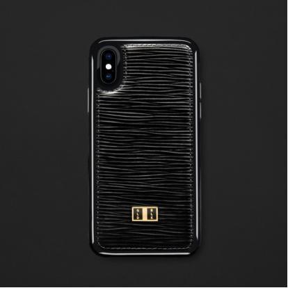 كفر ايفون X / XS جلد أسود 11750
