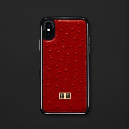كفر ايفون X / XS جلد أحمر 11732