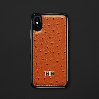 كفر ايفون X / XS جلد برتقالي 11735