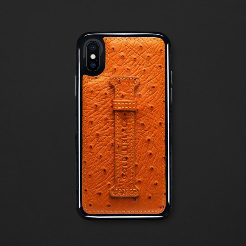 كفر ايفون X / XS هولدر جلد برتقالي 11835