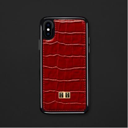 كفر ايفون X / XS جلد أحمر 18112