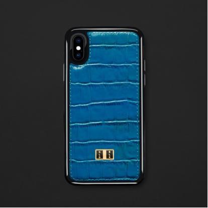كفر ايفون X / XS جلد أزرق 11714