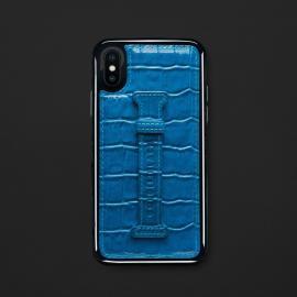 كفر ايفون X / XS هولدر جلد أزرق 11814