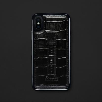 كفر ايفون X / XS هولدر جلد أسود 11810