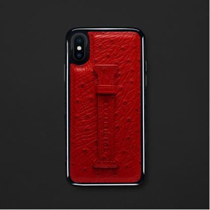 كفر ايفون X / XS هولدر جلد أحمر 11832