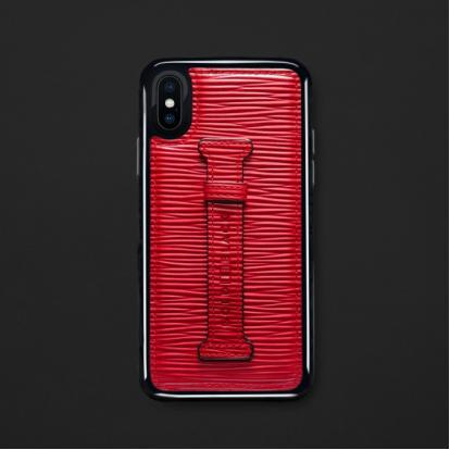 كفر ايفون X / XS هولدر جلد أحمر 11852