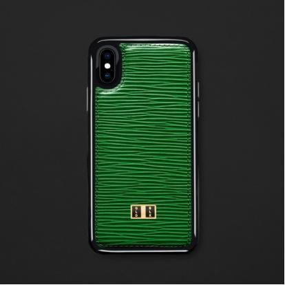 كفر ايفون X / XS جلد أخضر 18156