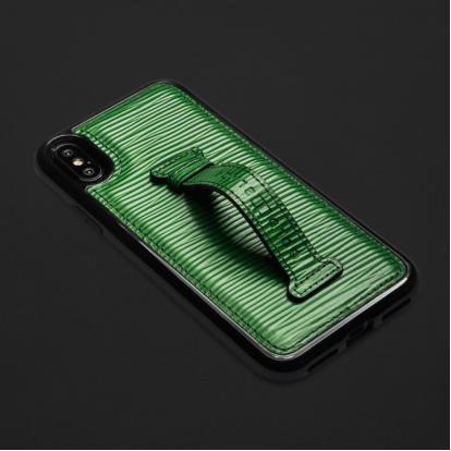 كفر ايفون X / XS هولدر جلد أخضر 11856