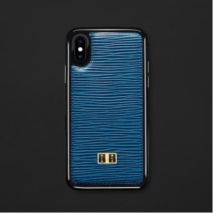 كفر ايفون X / XS جلد أزرق 11754