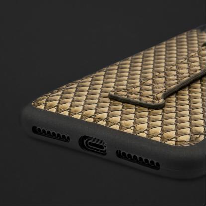 كفر ايفون XS MAX هولدر جلد ثعبان 110286