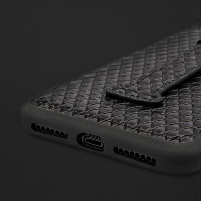 كفر ايفون XS MAX هولدر جلد ثعبان 110280