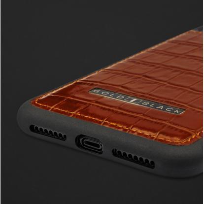 كفر ايفون XS MAX جلد تمساح 110111