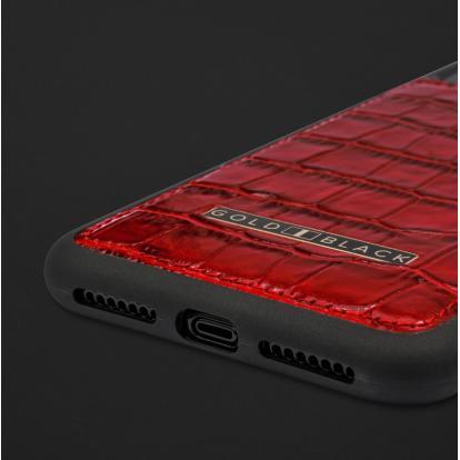 كفر ايفون XS MAX جلد تمساح 110112