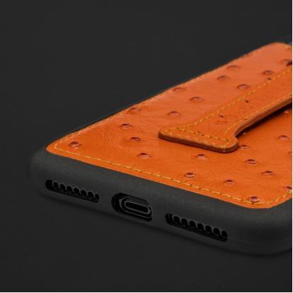 كفر ايفون XS MAX هولدر جلد نعام 110235