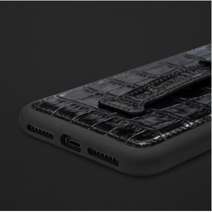 كفر ايفون XS MAX هولدر جلد تمساح 110210