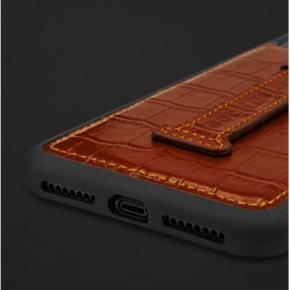 كفر ايفون XS MAX هولدر جلد تمساح 110211