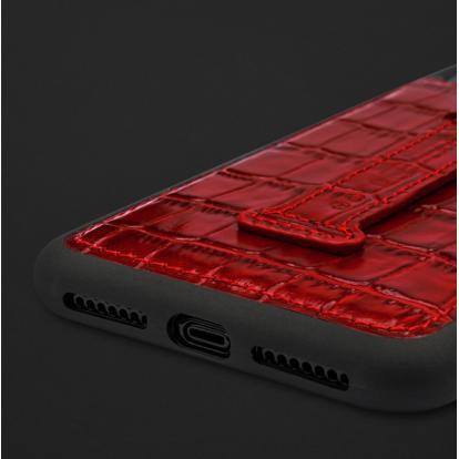 كفر ايفون XS MAX هولدر جلد تمساح 110212