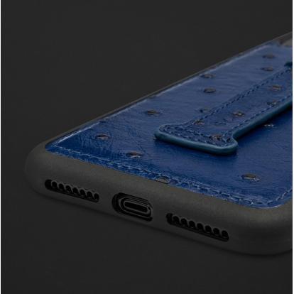 كفر ايفون XS MAX هولدر جلد نعام 110234