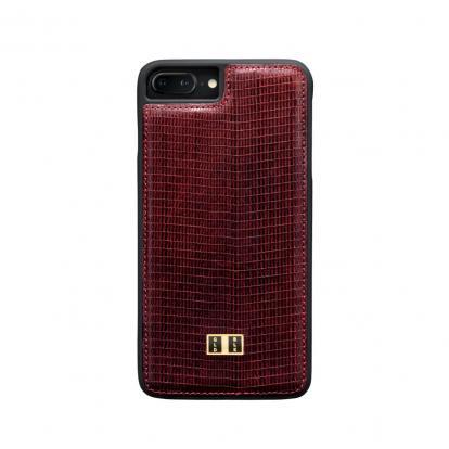غطاء (كفر) جلد أحمر للايفون 7 / 8 بلس (BCAP7-11260)