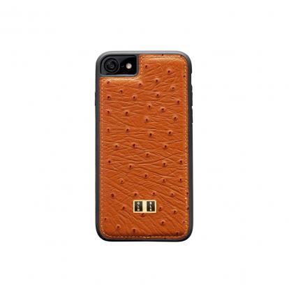 غطاء (كفر) جلد النعام برتقالي للايفون 7 / 8 (BCAP7-11135)