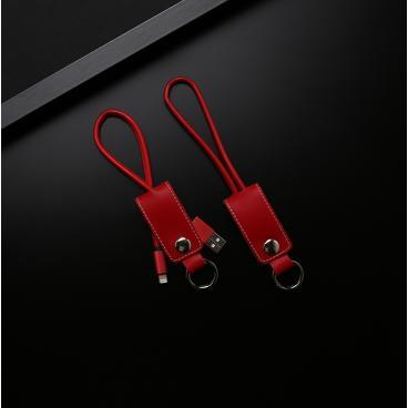 مدالية وشاحن جوال جلد احمر فاخر USBL04