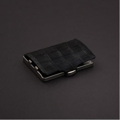 محفظة آي-كليب الذكية جلد التمساح - أسود