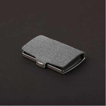 محفظة آي-كليب الذكية جينز رمادي