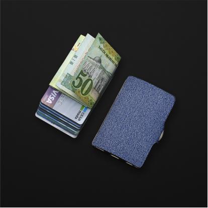 محفظة آي-كليب الذكية جينز أزرق
