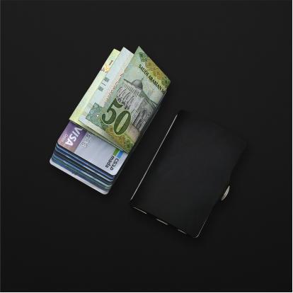 محفظة آي-كليب الذكية جلد ناعم اسود