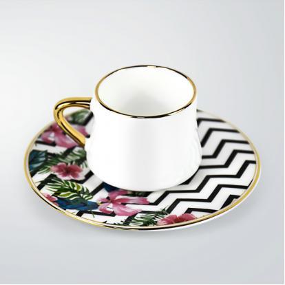 طقم فناجين قهوة هاواي قولد 1343