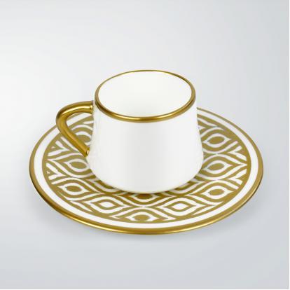 طقم فناجين قهوة قولد 0259