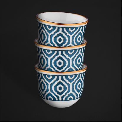 طقم فناجين قهوة عربية مراكش ايكات كويل 0505