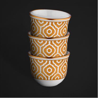 طقم فناجين قهوة عربية مراكش قولد 0563