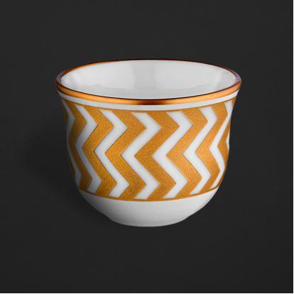 طقم فناجين قهوة عربية زيقزاق قولد 0641