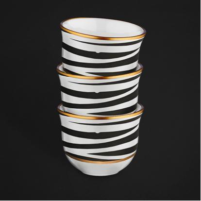 طقم فناجين قهوة عربية زيبرا 2089