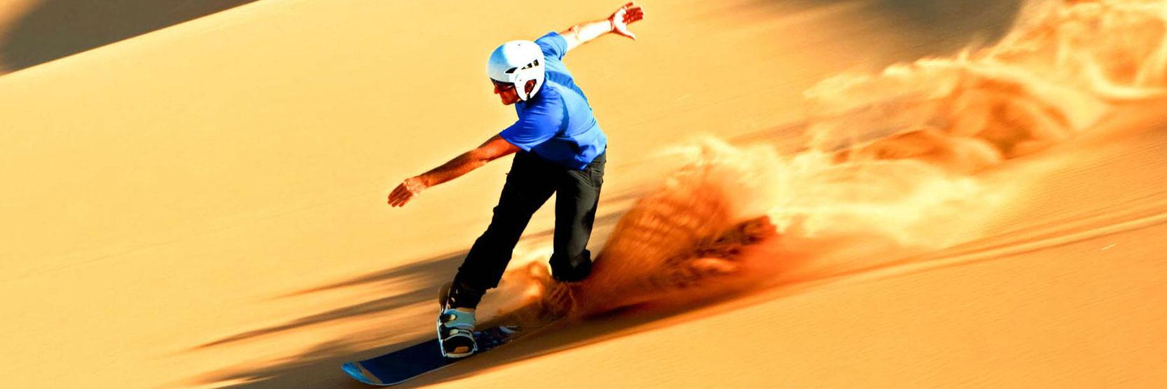 تعرف على رياضة التزلج على الرمال