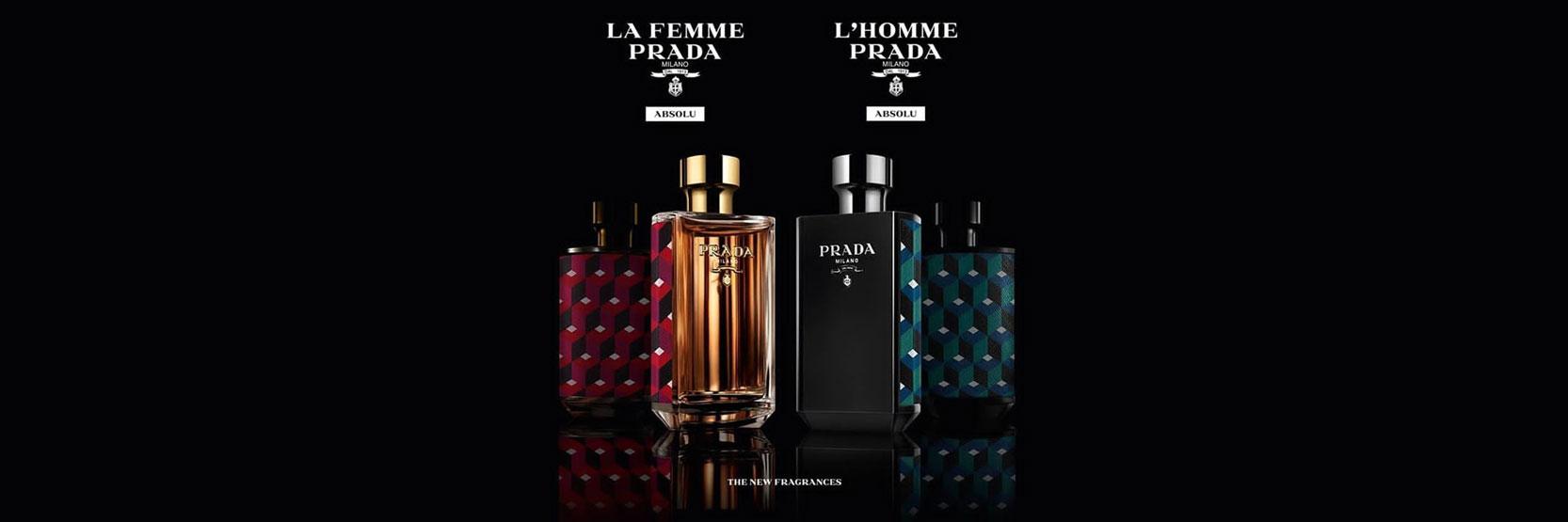 """إطلاق عطري """"L'Homme Prada Absolu """" و"""" La Femme Prada Absolu """""""