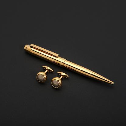 طقم نيتو ماراني قلم مع كبك ذهبي - S112GG