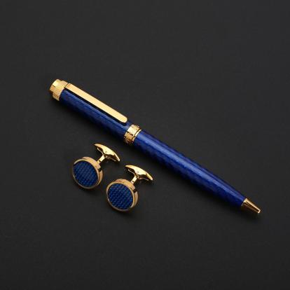 طقم نيتو ماراني كربون فايبر أزرق ذهبي - S119GD