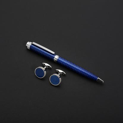 طقم نيتو ماراني كربون فايبر أزرق فضي - S119SD