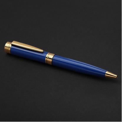 قلم نيتو ماراني ذهبي روز أزرق - P100RU